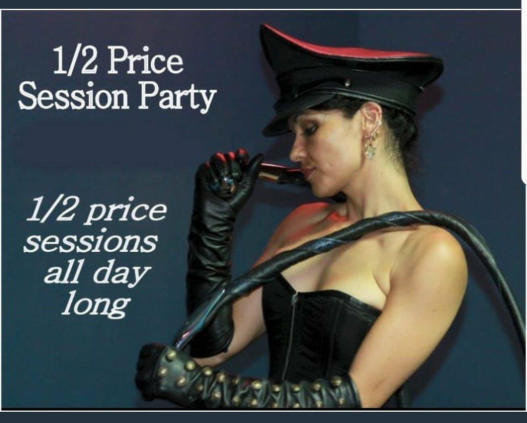 1/2 off #sessions day @SanctuaryLAX tomorrow-I will be there w/ @GoddessAnat @Mpenzi_Barbie @BrattyWolfie @MsJoyluck @YourMadameRose &amp; more!<br>http://pic.twitter.com/09Vh66mZiy