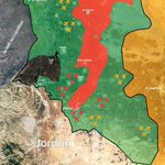 "Map of control for the fourth proposed ""de-escalation zone"" in Syria's southern provinces by @Nawaroliver. Read more https://t.co/RaTjmJmE3D"
