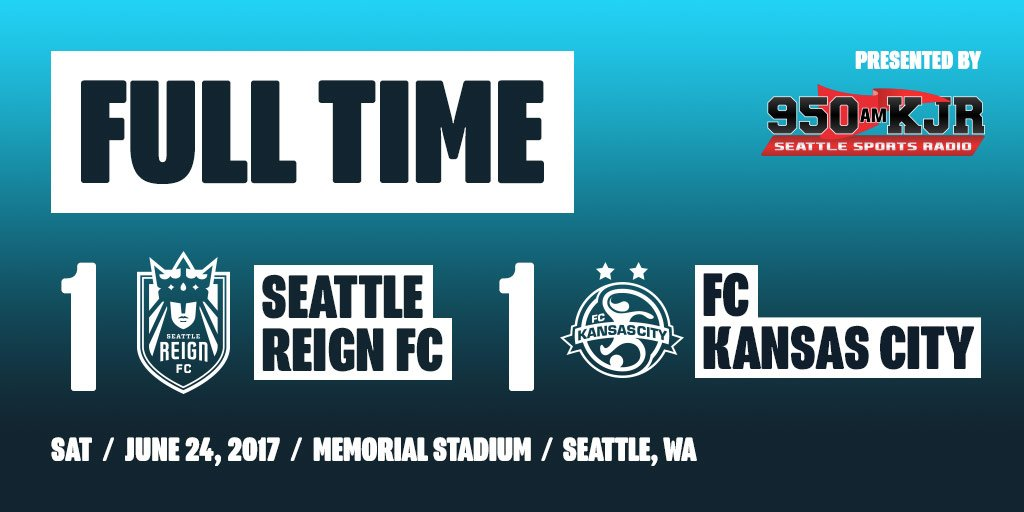 FULL TIME: Seattle Reign FC 1, FC Kansas City 1 Naho's equalizer keeps...