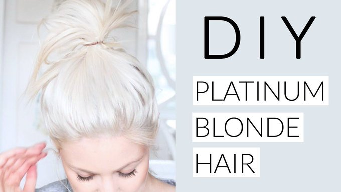DIY Icy White Platinum Blonde Hair Tutorial