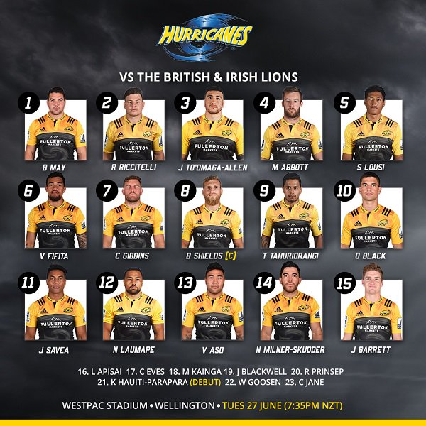 Your Canes team to take on @lionsofficial at #OurHouse @WestpacStadium on Tuesday is out https://t.co/UDP0osyIcm #HURVBIL https://t.co/veB8utZRfA