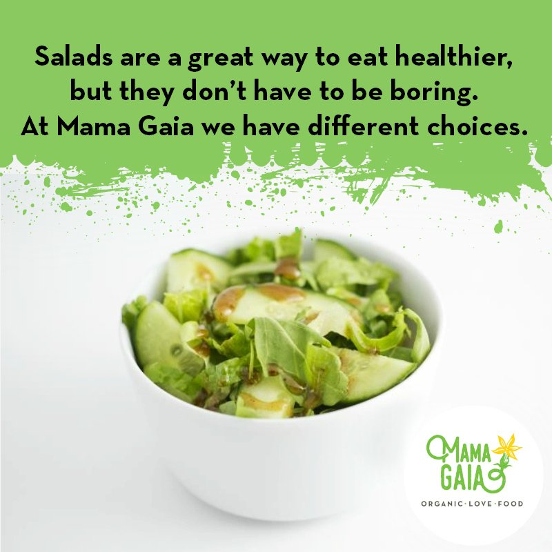 Salads are great way to eat healthy.  http:// mamagaia.net  &nbsp;   #Memphis #Healthy #Organic<br>http://pic.twitter.com/W1Mnx7dKch