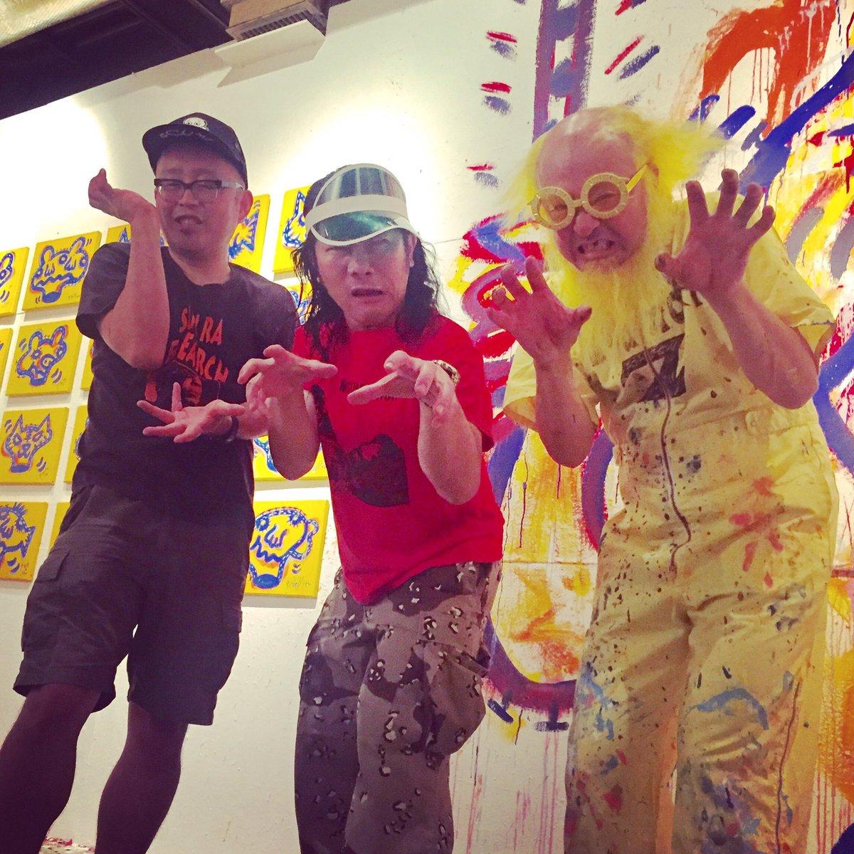 世界3大ロックスターが東京に集結!!! 次は世界ツアーでお会いしましょう!!! we are most handsome rockstars in this planet!!! @okiteporsche  @sugi_mu https://t.co/5RHtE2blQU