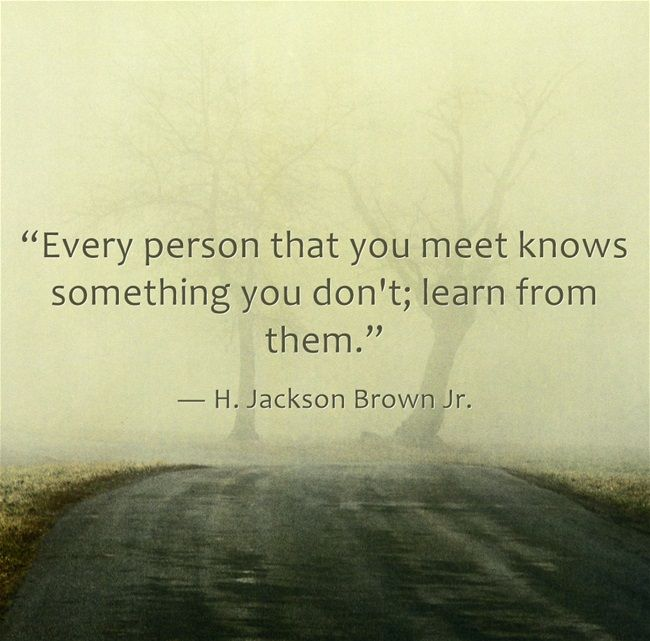 """Wise #iste17 advice """"Every person that you meet knows something you don't; learn from them.""""  ― H. Jackson Brown Jr. https://t.co/L8RHVExT3t"""