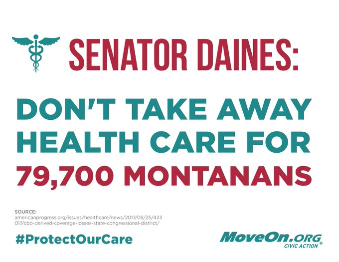 .@SteveDaines #ProtectOurCare. Do not take away health coverage from grandfathers in #MT.