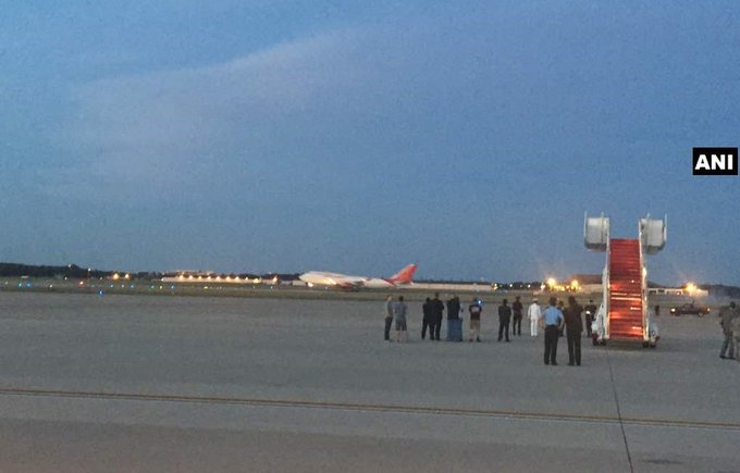 #FLASH PM Modi arrives at Joint Base Andrews, Washington DC on the second leg of his three nation visit