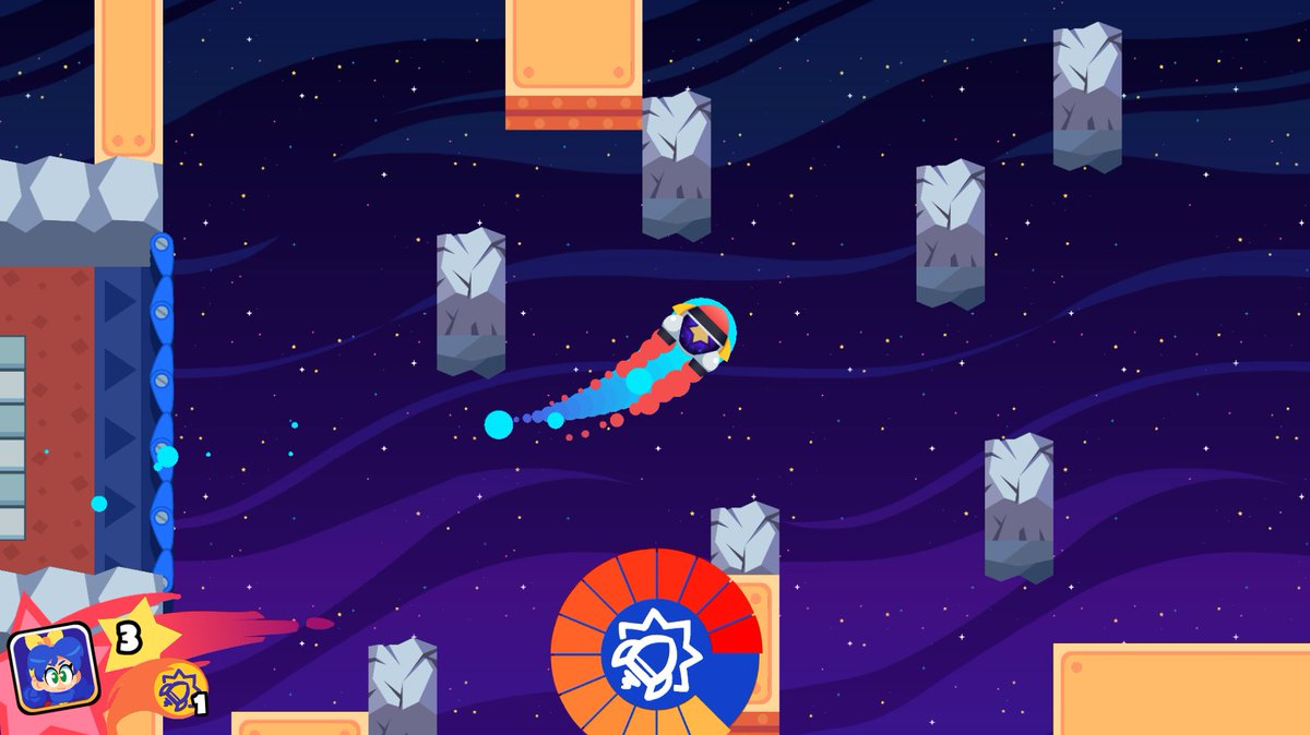 Rocket Ball, burning out its fuse up here alone.#WonderWickets #gamedev #indiedev #indiegame #videogames #gaming<br>http://pic.twitter.com/PkdTwxyagP