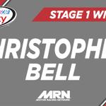 .@CBellRacing Wins #E15250 Stage 1 @iowaspeedway!   Top 10 - 20 22 9 7 1 18 14 3 16 21 #AskMRN #NASCAR