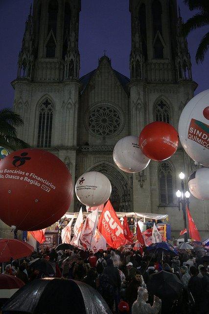No dia 30 o Brasil vai parar com a Greve Geral! Contra as reformas do golpista Temer Foto: Paulo Pinto https://t.co/vr6udtKoZh
