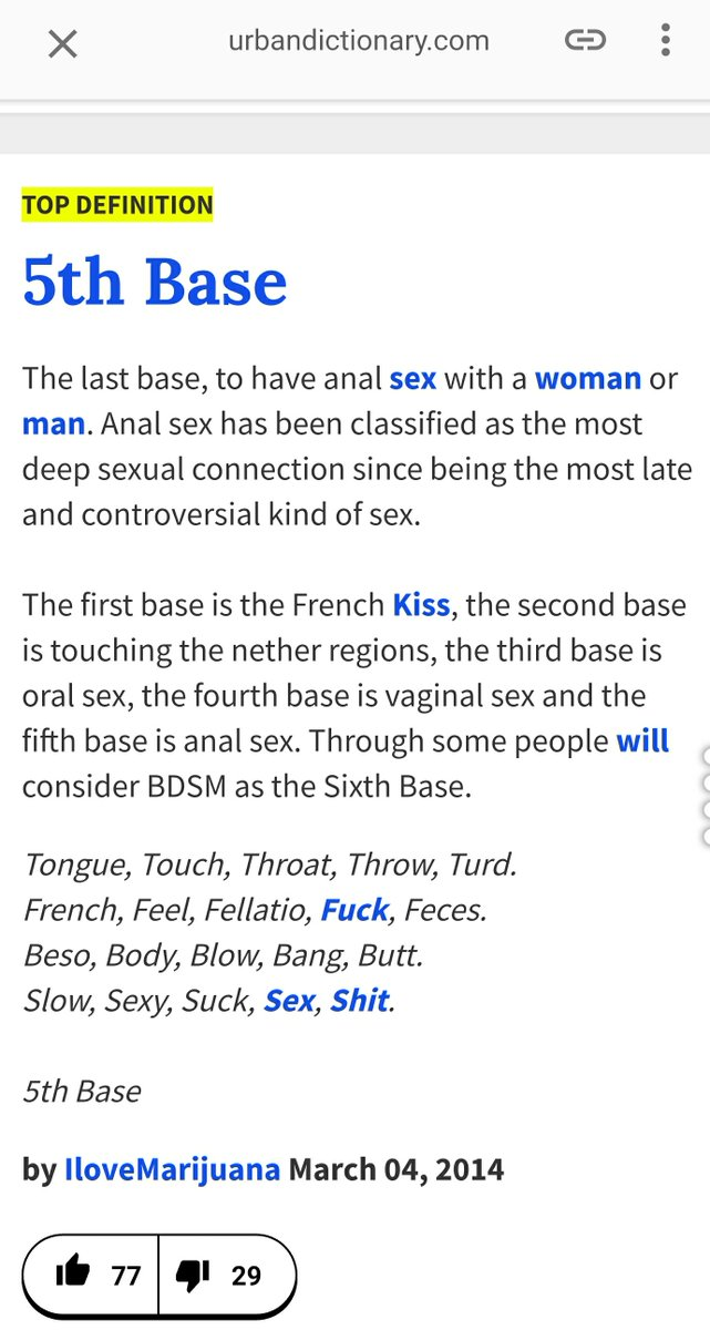 Third base – manual or oral stimulation of the genitals.