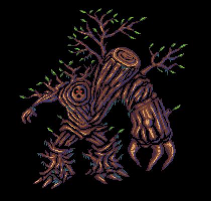 Careful! A cruel #wood golem approaches! for #pixel_dailies @Pixel_Dailies. #pixelart #gameart #aseprite<br>http://pic.twitter.com/Yyflh7mysO
