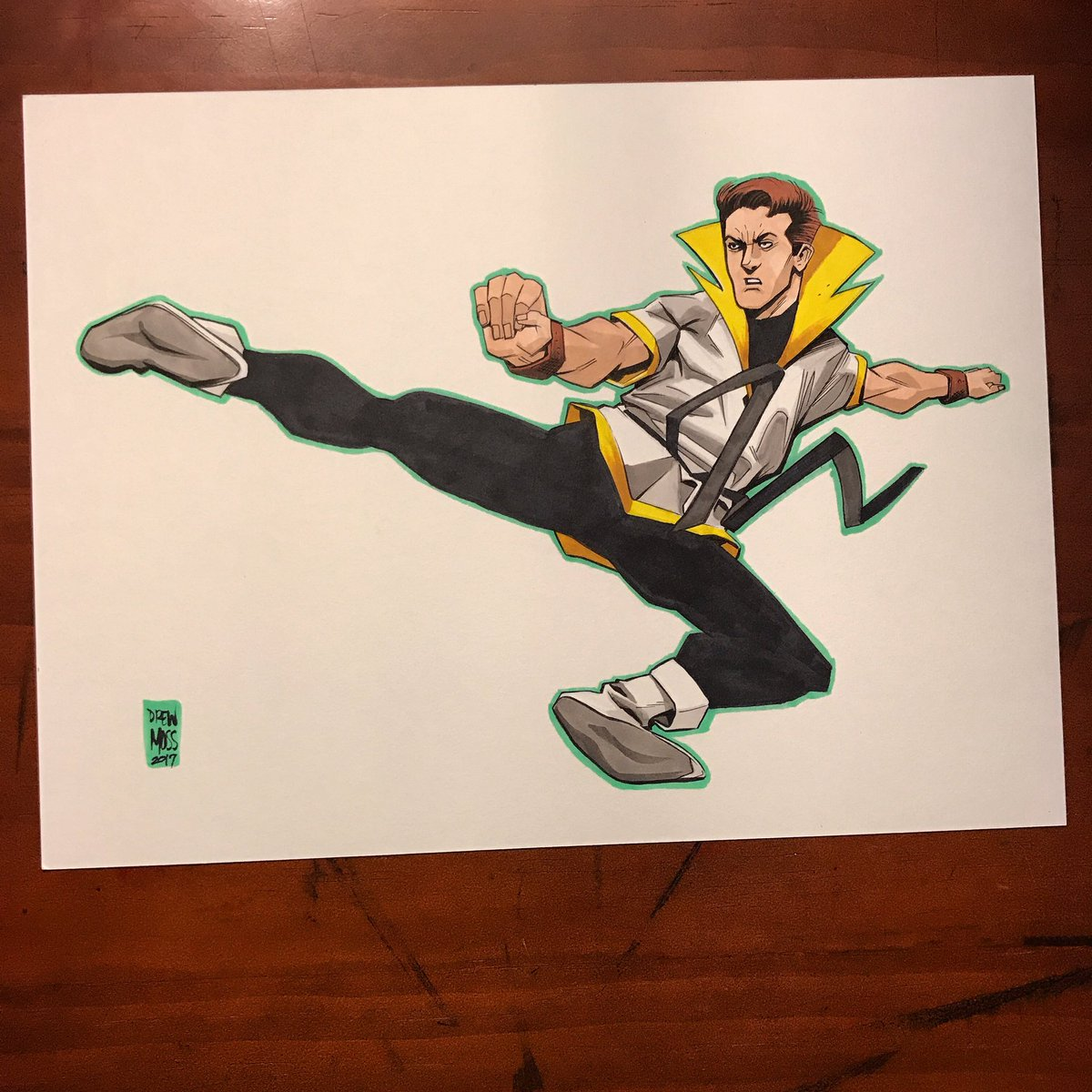 #karatekid #dccomics #legionofsuperheroes #commission. A real quick one before bed. Nite y&#39;all <br>http://pic.twitter.com/J8TVPsf5Y4