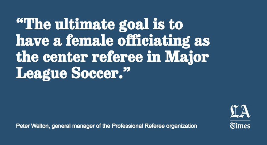 Women are CEOs and Supreme Court justices, but they still aren't represented in the world of soccer referees https://t.co/iixbeEpwBd
