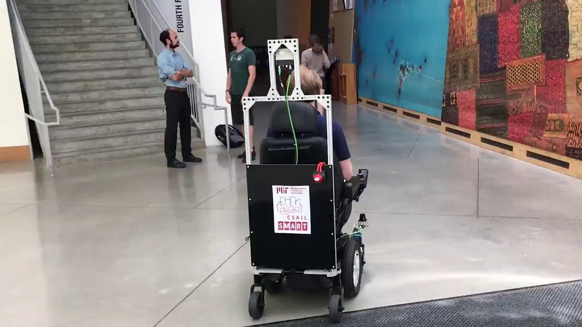 Taking a ride in MIT's self-driving wheelchair https://t.co/UaLLvvrQdQ
