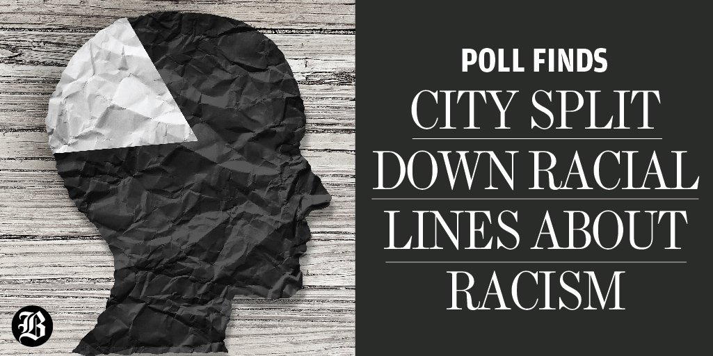 In new poll, 57 percent of black residents said Boston is racist, compared with 37 percent of white residents. https://t.co/bYOCO68Olz