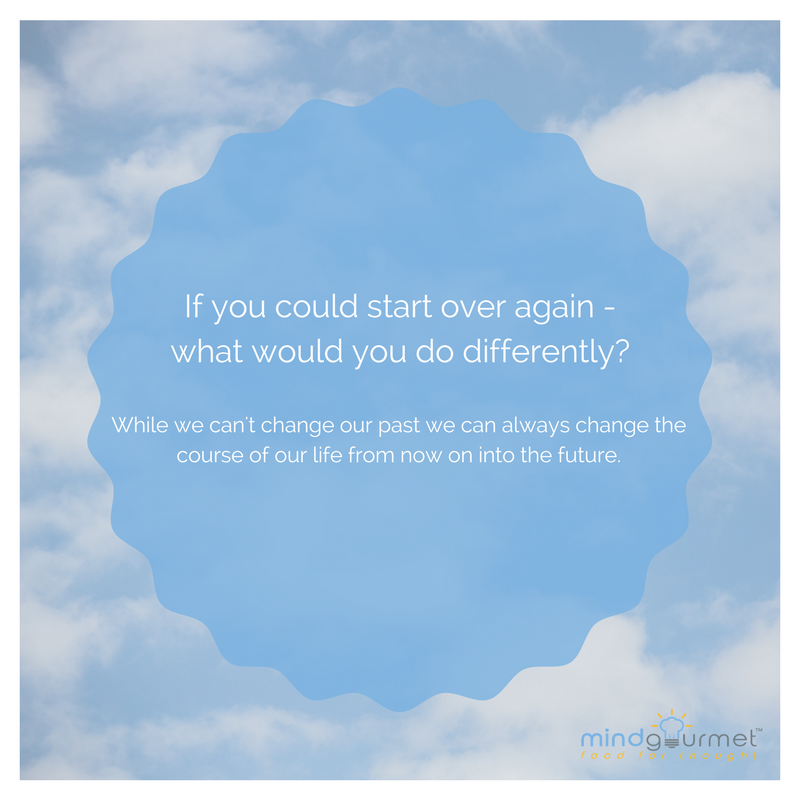 If you could start over again - what would you do differently? #start #different<br>http://pic.twitter.com/z3YU0RXmk5