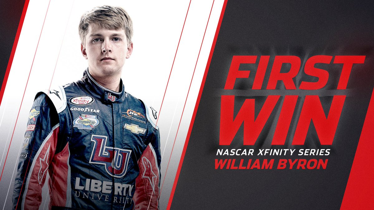 Retweet to congratulate @WilliamByron on his first career victory!