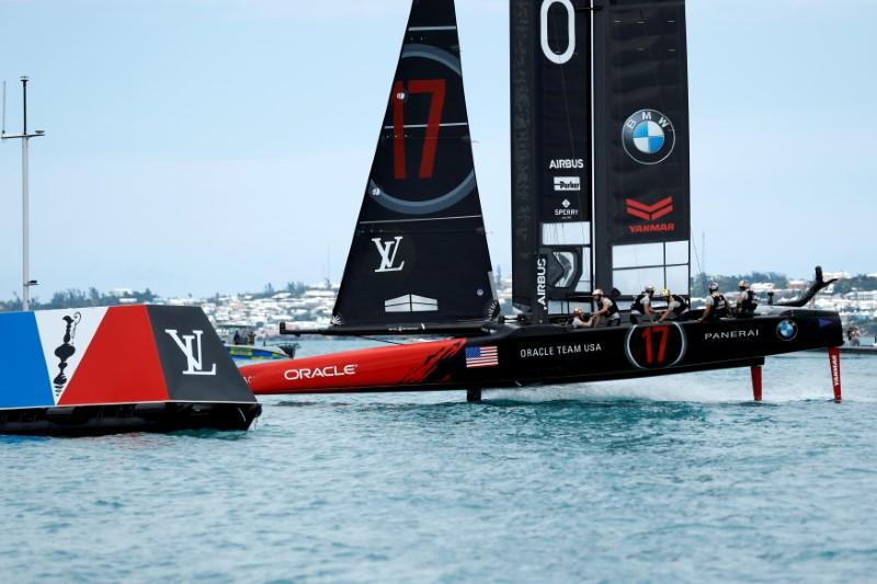 U.S. secure first win of America's Cup, trail New Zealand 4-1 https://t.co/sZ0Of09Rke