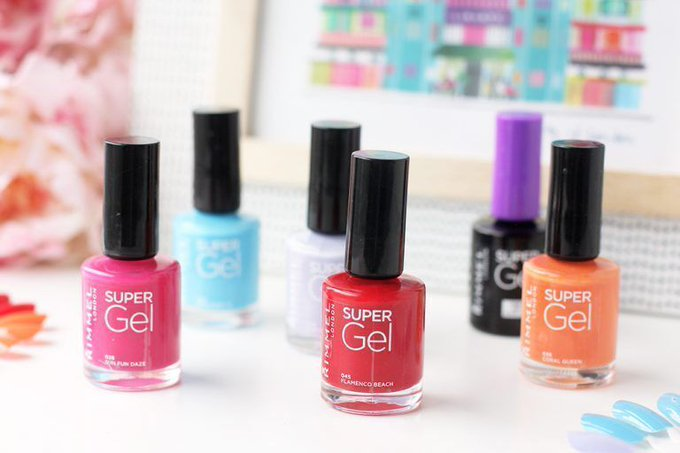 Review: Rimmel Super Gel Nail Polishes