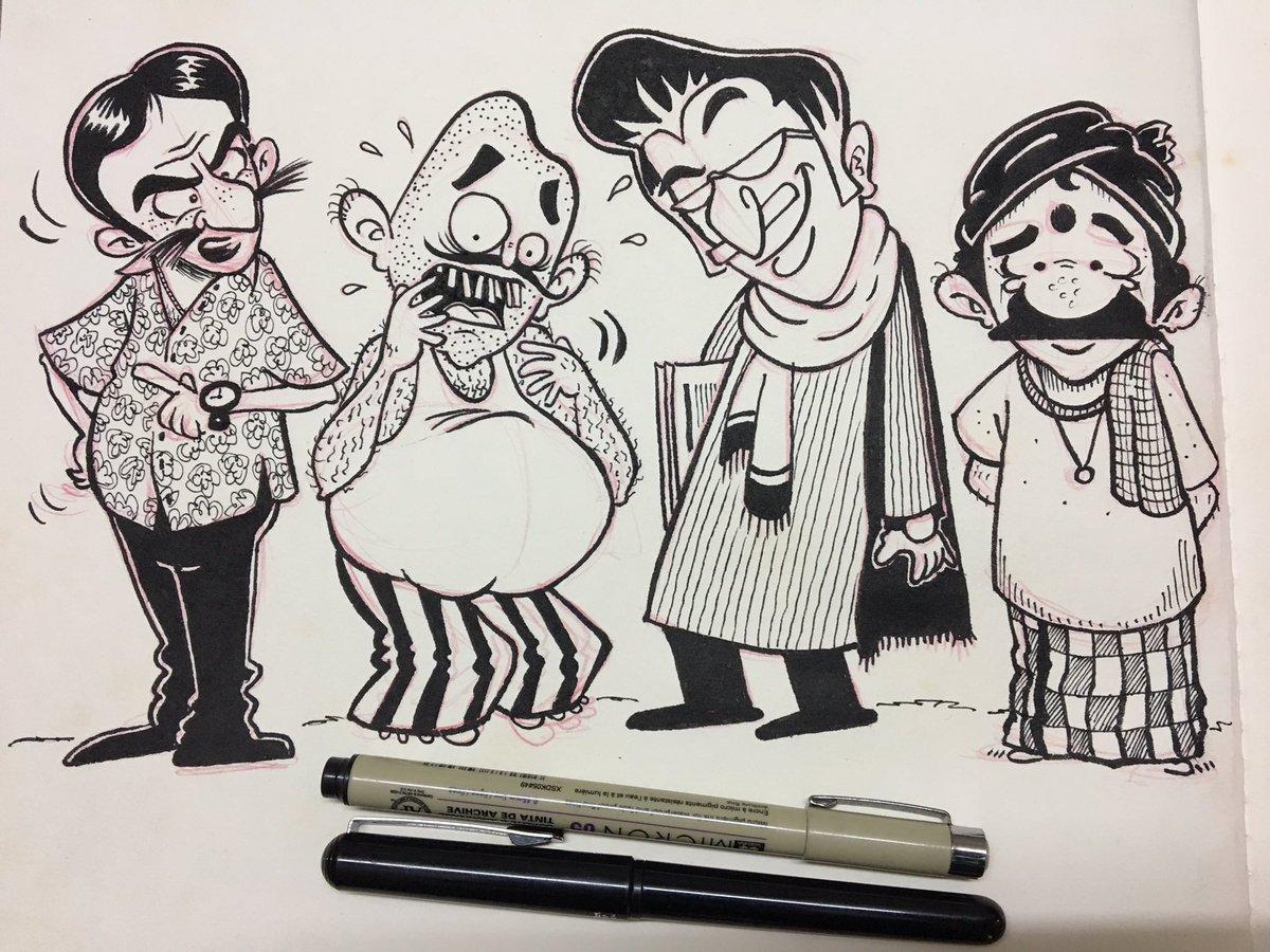 Phani Tetali On Twitter Character Design Practice India Indians People Cartoon Doodle Art Illustration Brushpen Characterdesign Sketchbook