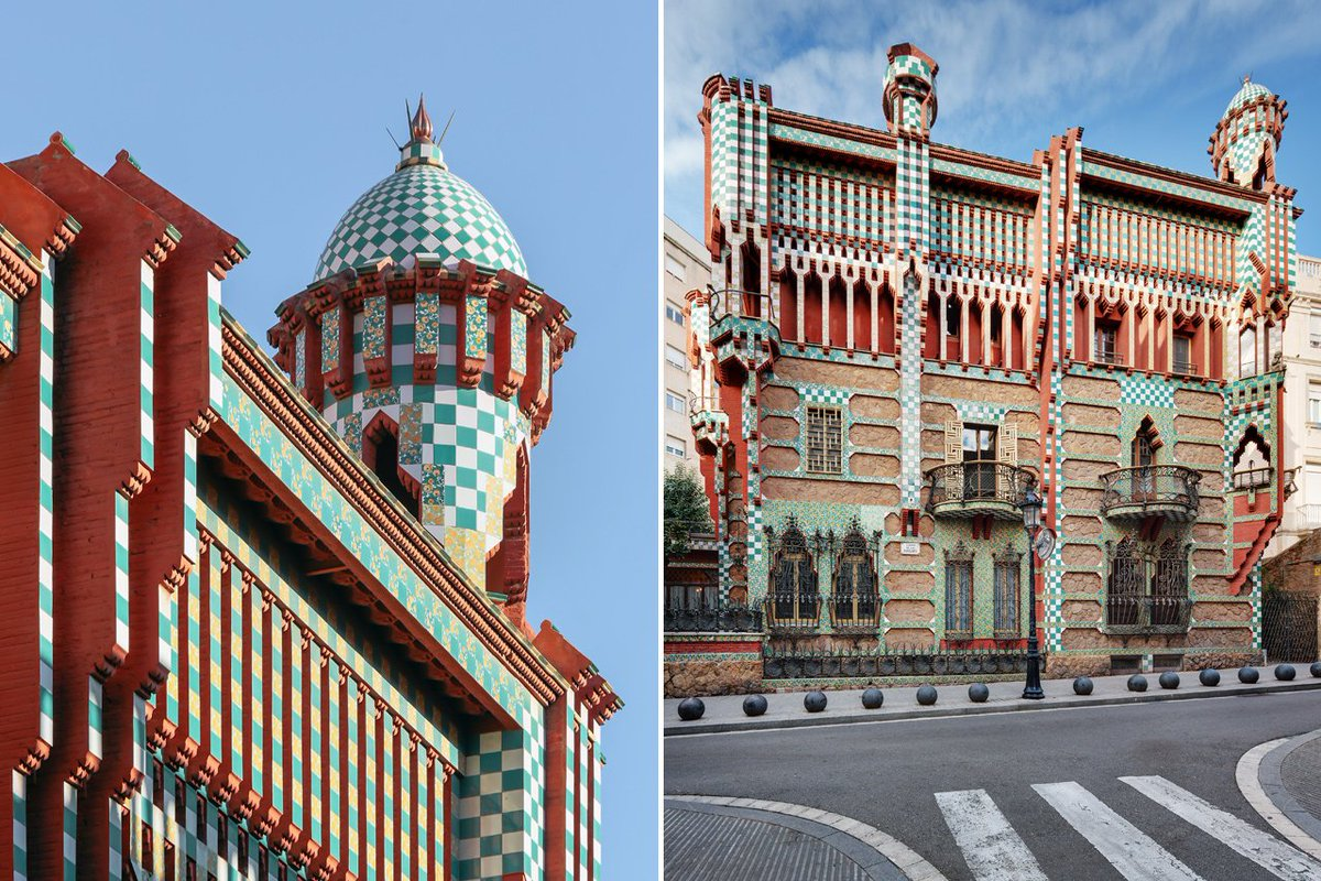 Celebrate Antoni Gaudí, born today in 1852, with his Casa Vicens, newly restored  #Barcelona <br>http://pic.twitter.com/2q0lllaSca