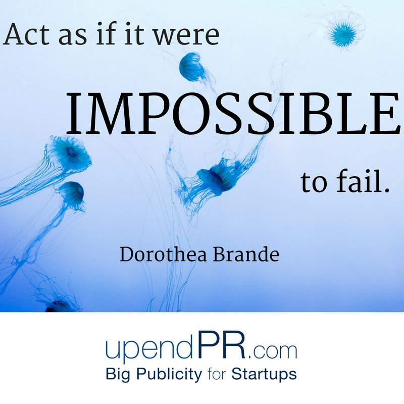 Keep your eye on the prize and keep swimming toward it! Nothing can stop you. #Startups #PR  http:// upendpr.com  &nbsp;  <br>http://pic.twitter.com/hzshKXu4HA