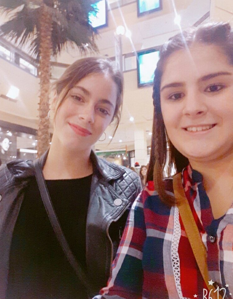#NEW   Tini with fans in Buenos Aires yesterday <br>http://pic.twitter.com/KxRxQsAb0E