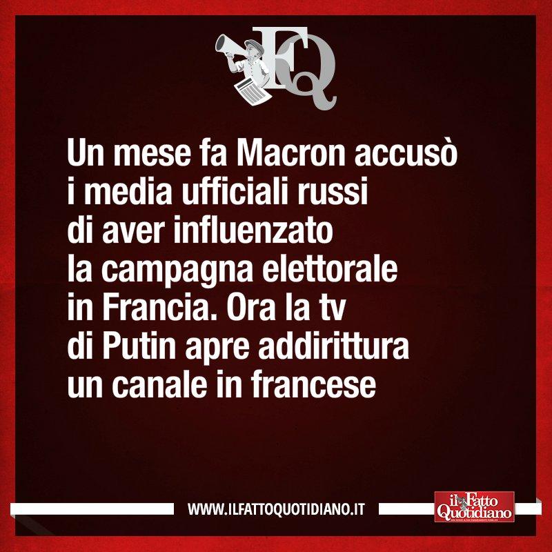 LA FRASE DEL FQ DI OGGI ilfattoquotidiano.it/premium/ #FattoQuotidiano #25giugno #Macron #Putin