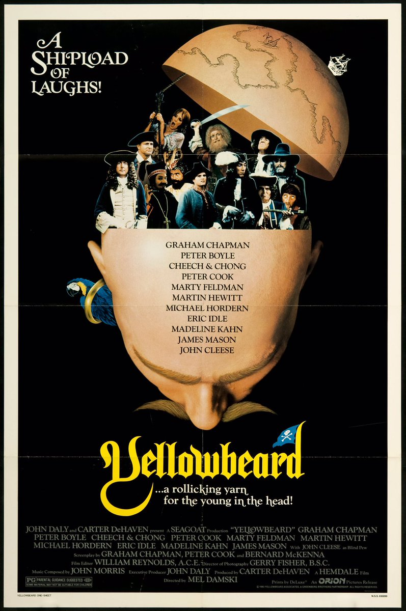MOVIE HISTORY: 34 years ago today, June 24, 1983, &#39;Yellowbeard&#39; opened in theaters!  #Yellowbeard #GrahamChapman #CheechMarin #TommyChong<br>http://pic.twitter.com/L76vtQvxJ8