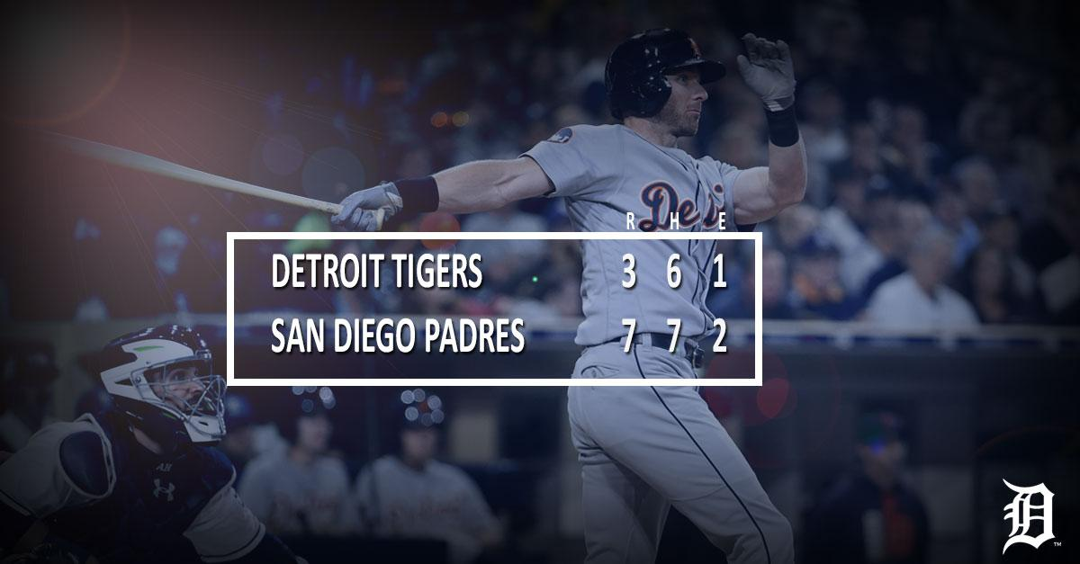 #Tigers fall to Padres.  RECAP ➡️ https://t.co/n6OBnyl5FP https://t.co...