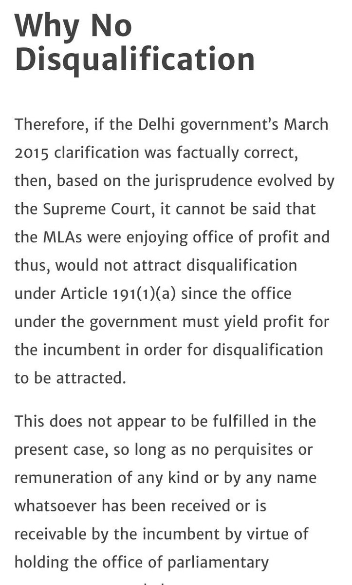 Daarubaaz Mehta On Twitter Must Read Disqualifying 21 Aap Mlas Tough As Office Of Profit Rule Not Violated Former Solicitor General Says Https T Co U6v5ymjqsa Https T Co Pssuuab95y