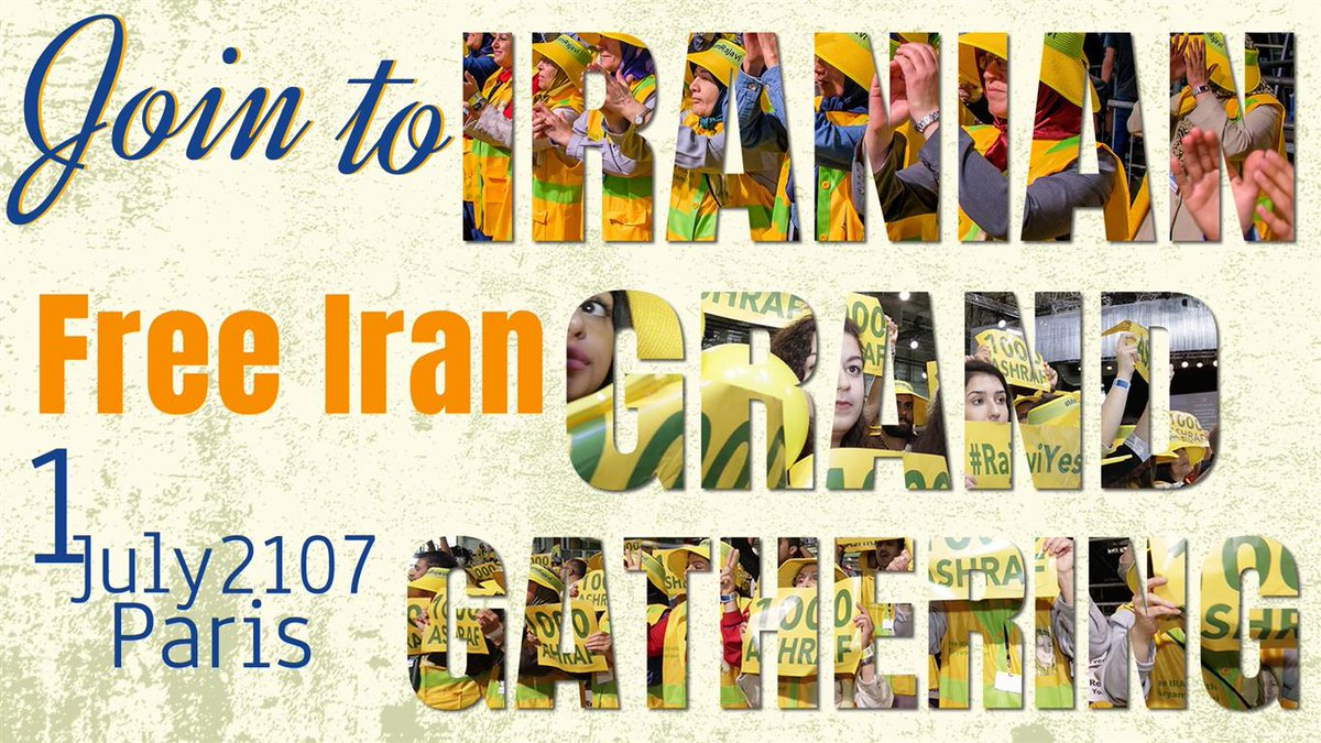 The #Iran&#39;ian Grand Gathering takes place in #Paris July 1st  #NDP #LPC #cpcldr #BCpoli #ONpoli #ABPoli #qcpoli #skpoli #USA #UK #MiddleEast<br>http://pic.twitter.com/7zuTfAH08p