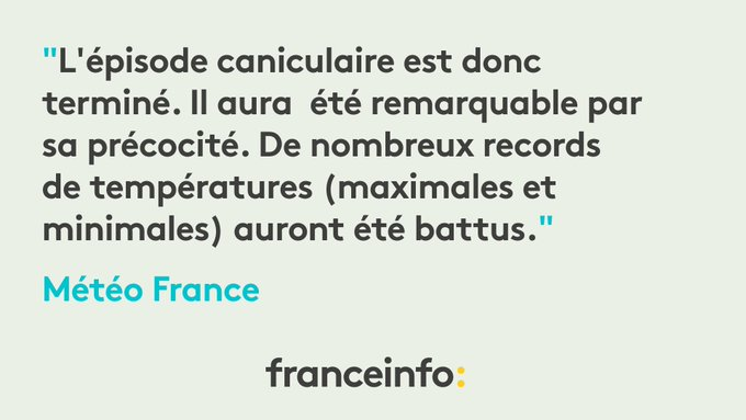 #Canicule : Météo France a levé l'alerte orange dans tous les départements français