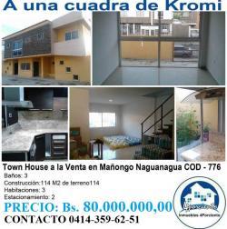 Town House A La Venta En Naguanagua, Este inmueble totalmente nuevo y...