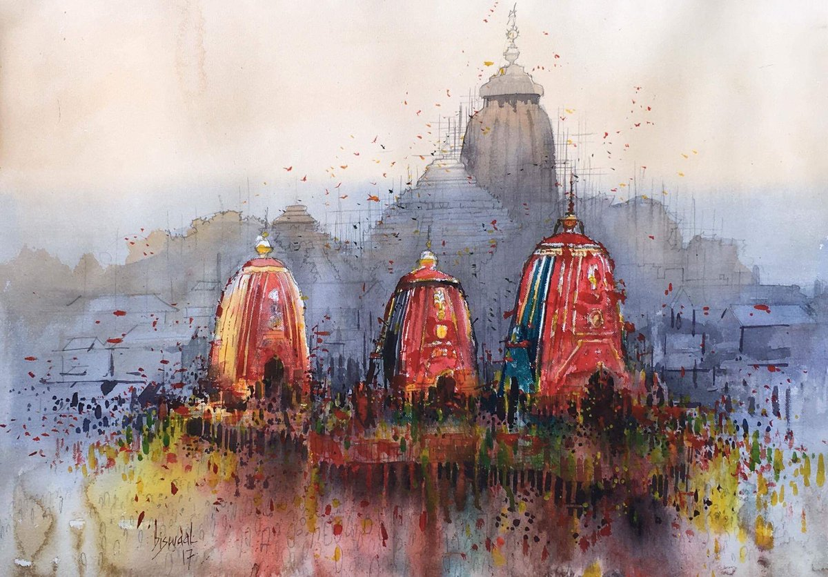 Now, this is an artistes effort. Got it just right. #RathYatra https://t.co/FqI4GbCey0