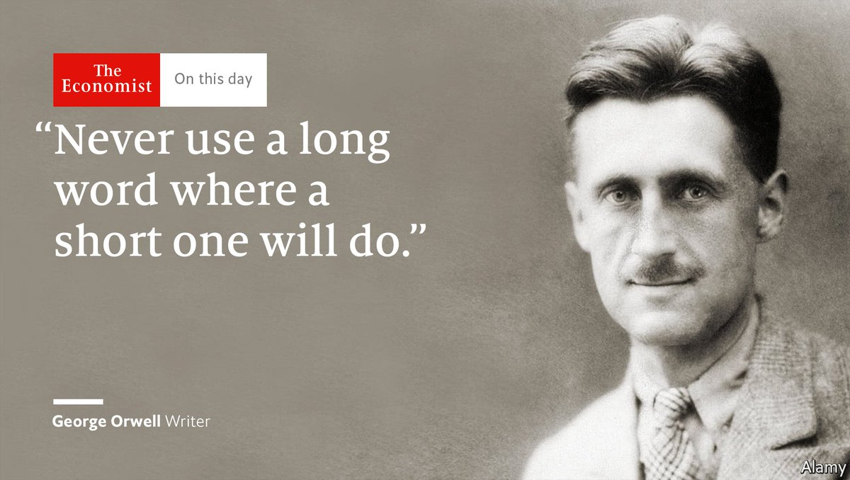 George Orwell was born #OnThisDay 1903. His six golden writing rules https://t.co/vgDkKKC4AJ