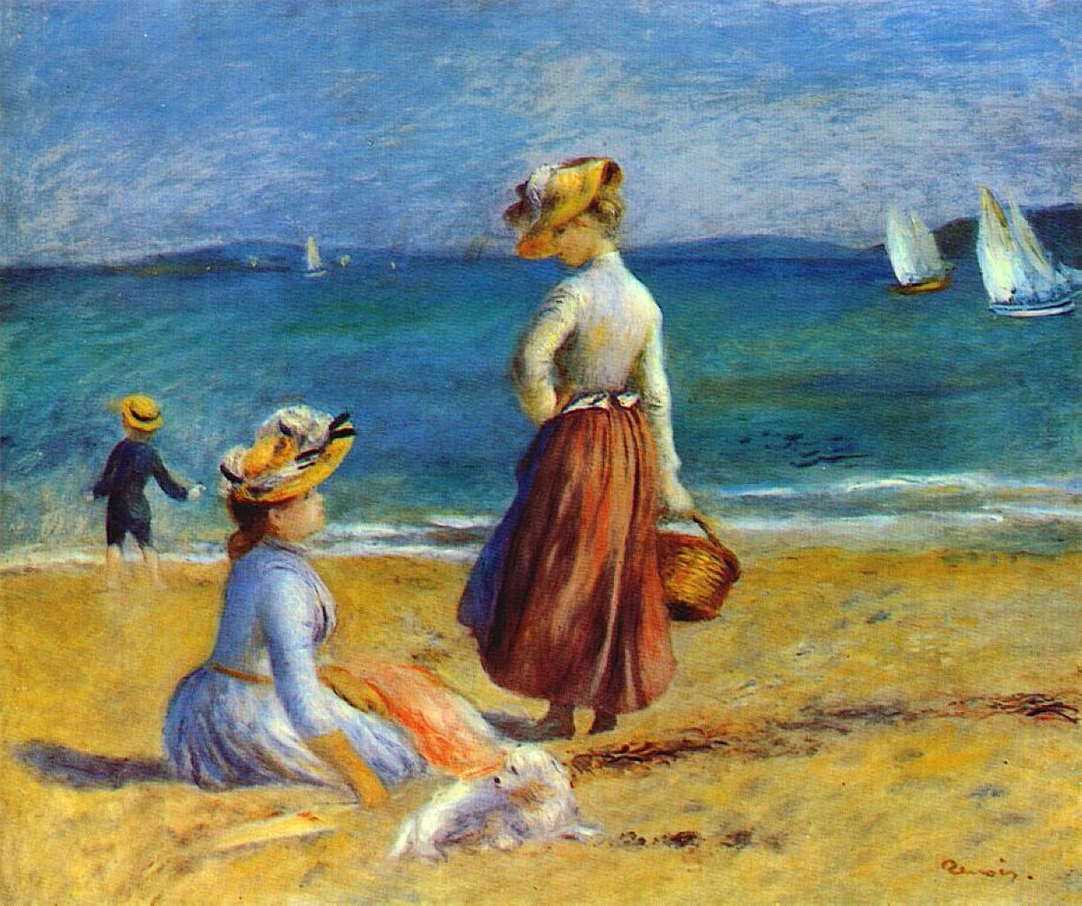 Figures on the Beach , Pierre-Auguste #Renoir.