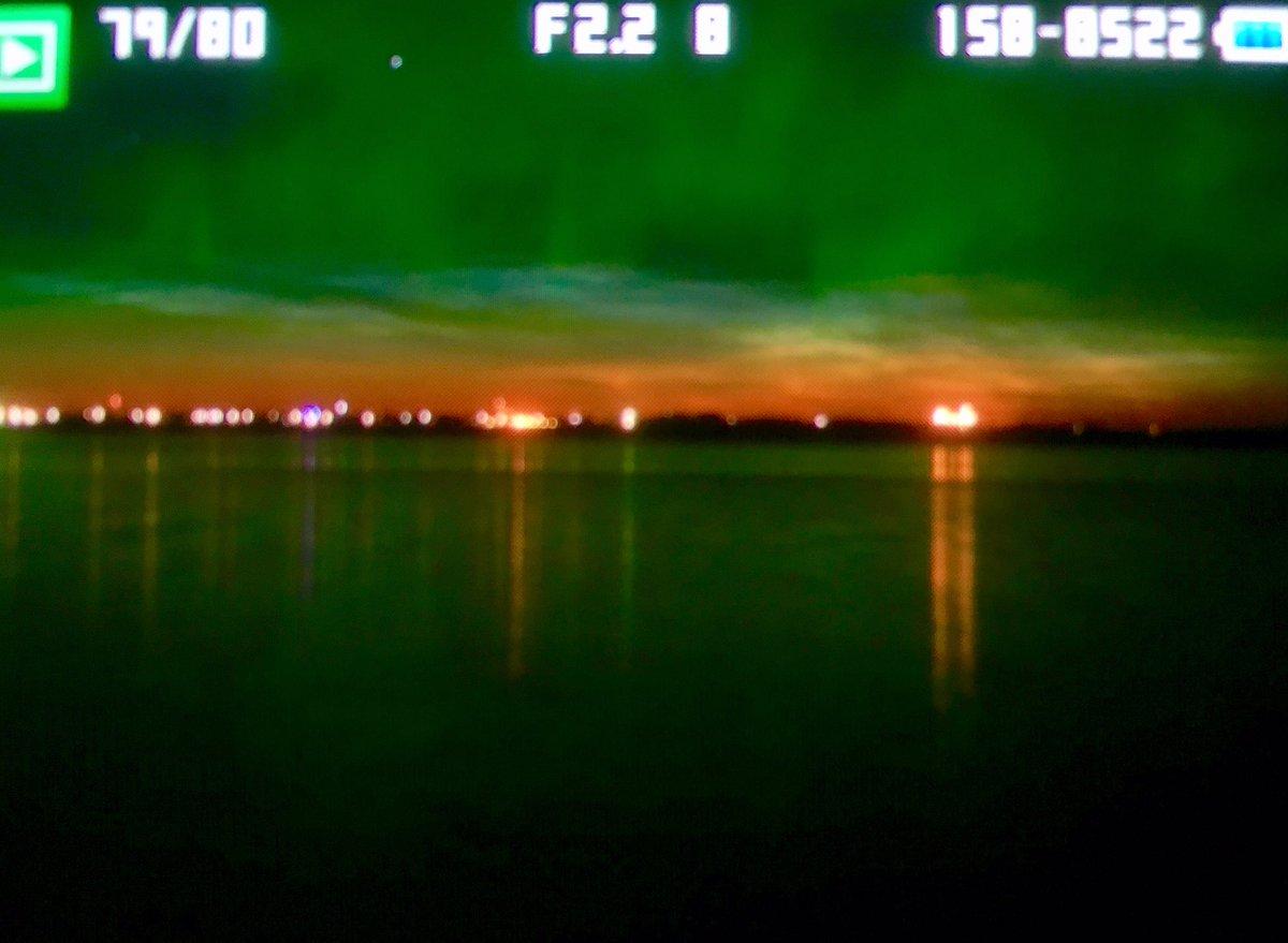 #AuroraBorealis &amp; #NoctilucentCloud over Wilkie #exploreSask #Canada tonight @PQuinlanGlobal<br>http://pic.twitter.com/RvNDWlQmVs