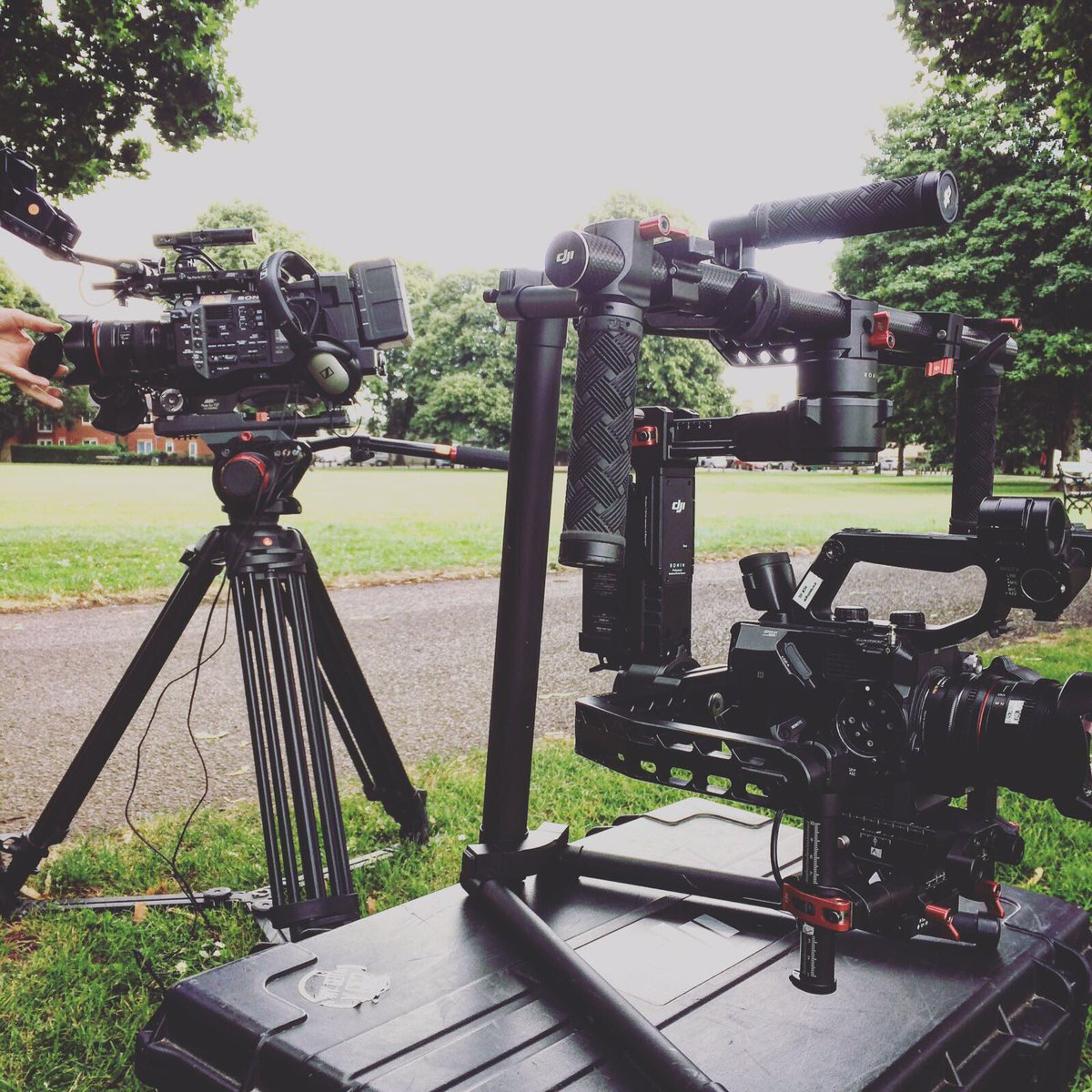 Our Sony cameras out on location this week!  #Sony #ronin #Filmmaking<br>http://pic.twitter.com/mk5eTAvhDZ