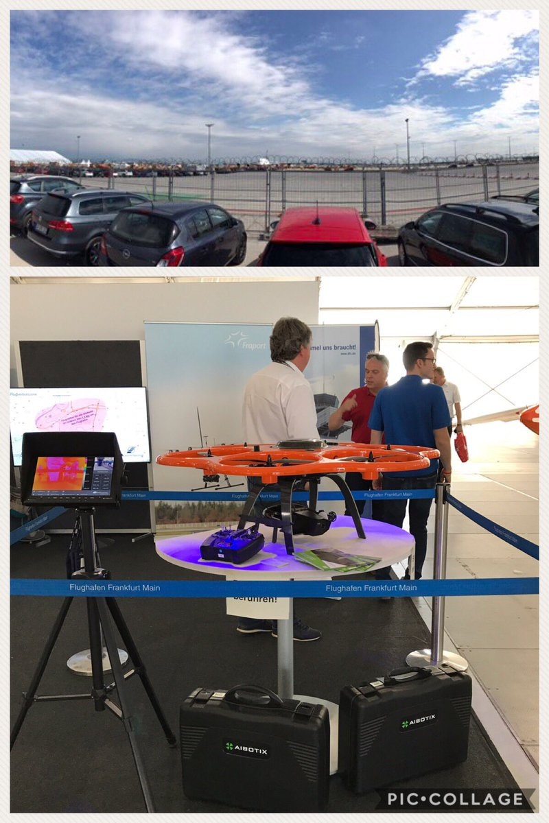 #Fraport #FRA Tag der Luftfahrt, #UAV Aibot for project #Terminal3. Hope to see you all! We are here till 6 PM<br>http://pic.twitter.com/A9rEyUhBQ4