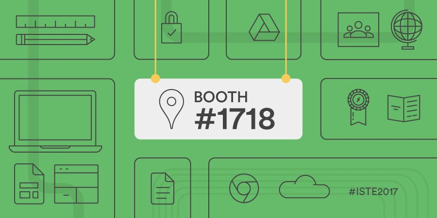Drop your pin at booth 1718 at #ISTE17. We'll be here all week with pr...