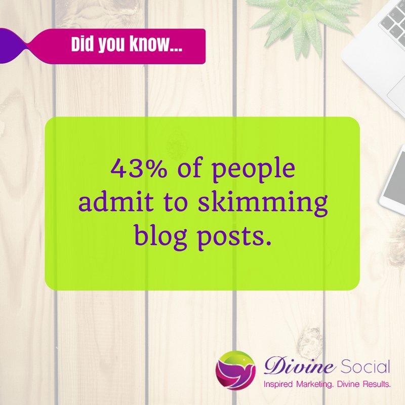 Make your blog posts enticing! #contentmarketing #marketing  http:// divinesocial.com  &nbsp;  <br>http://pic.twitter.com/K72alAzMMp