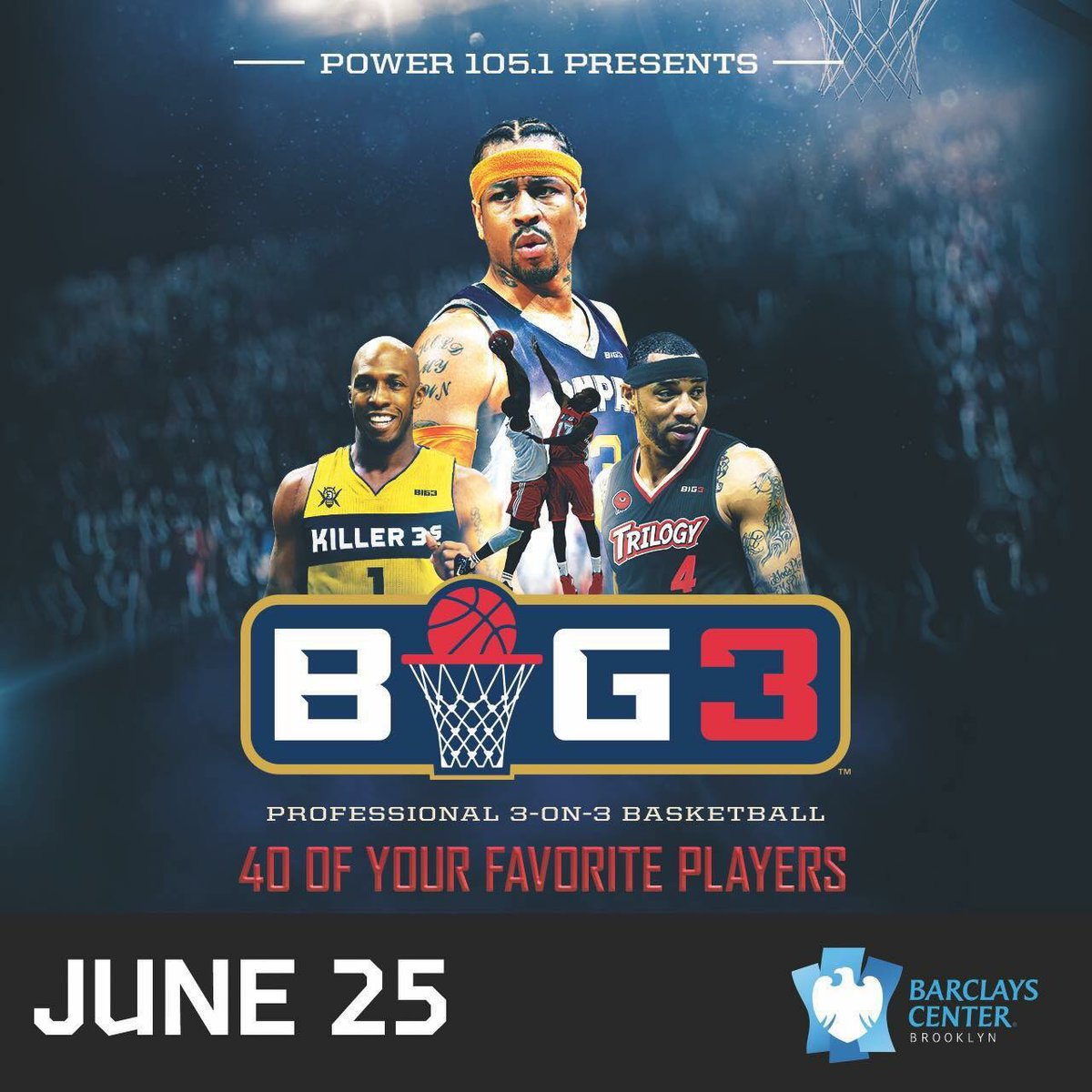 It's #Big3 day 🏀! Doors open at 12PM, the game kicks off around 1PM. 🎟...