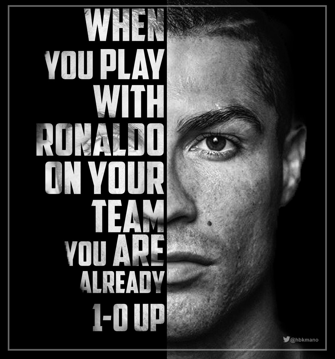 Zinedine Zidane: &quot;When you play with Ronaldo on your team, you are already 1-0 up.&quot; #HalaMadrid <br>http://pic.twitter.com/HbfrLryE91