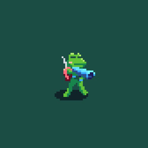 #KeroBlaster for #pixel_dailies @Pixel_Dailies, using the awesome PIXPIX-32 palette from @PixHammer! #pixelart #aseprite<br>http://pic.twitter.com/uPN0Mlid6H