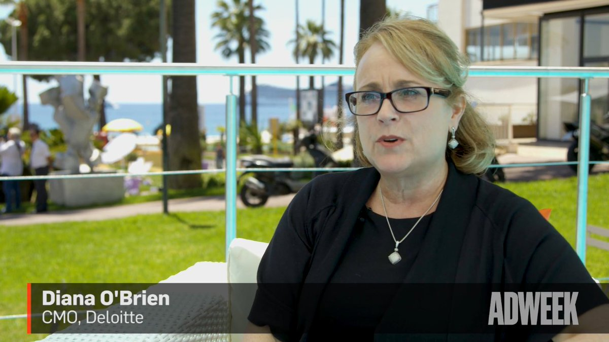 Deloitte's CMO, Diana O'Brien,  on Reimagining Your Business Model as Technology Transforms the Industry #Cannes2017  http://www. adweek.com/digital/deloit tes-marketing-chief-on-reimagining-your-business-model-as-technology-transforms-the-industry/?linkId=39026693 &nbsp; … <br>http://pic.twitter.com/iuObwFzSQD