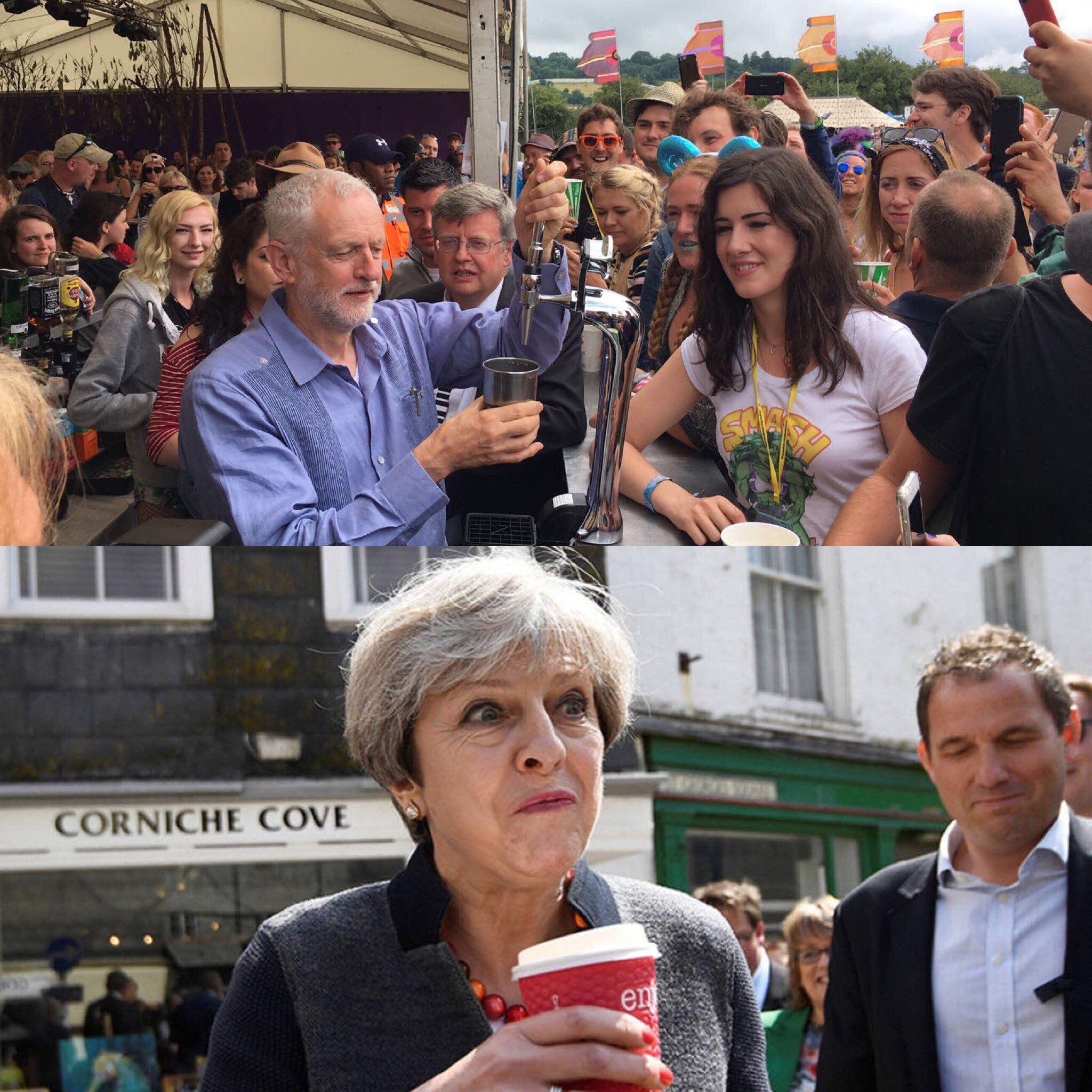 Labour and Conservative top beverage moments 2017. https://t.co/BK6KKK8gau