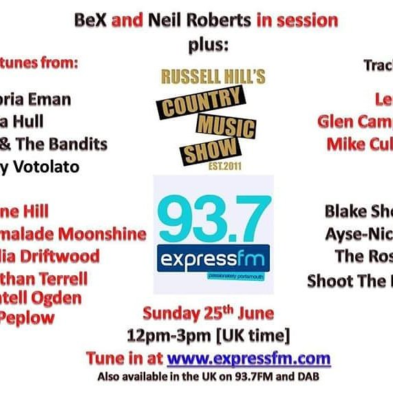 Soon we&#39;ll be live on @ExpressFM @RussHillCountry Tune in today around 12noon  #radio #acoustic #countrymusic #rockpop #live #interview <br>http://pic.twitter.com/fsePed42Im
