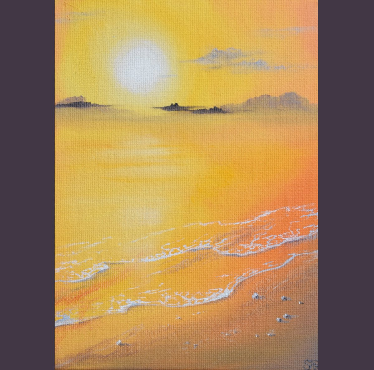 My latest finished #mini #oilpainting from a new #series of #sunset #paintings I&#39;m working on have a #Peaceful day everyone #hope #love<br>http://pic.twitter.com/m7meeiODoe
