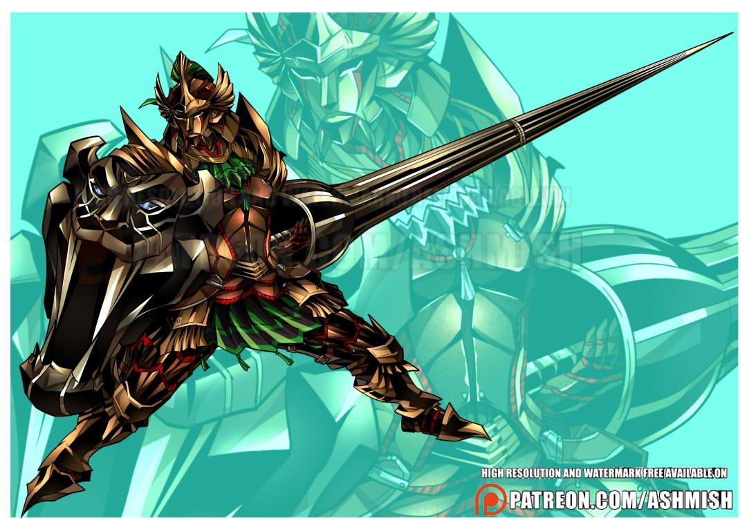 Commission work for Francesco S. :D  #monsterhunter #kushaladaora #armor #fanart #commission #patreon<br>http://pic.twitter.com/N9FNKmDu8O